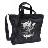 high quality zippered tote bag from Dragon Mist Distillery makes a great beach tote or notebook bag