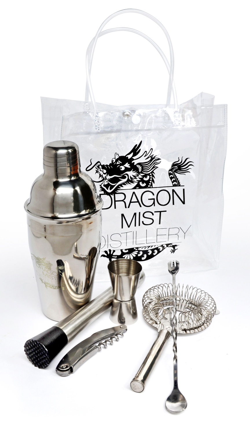 High quality cocktail kit from Dragon Mist Distillery